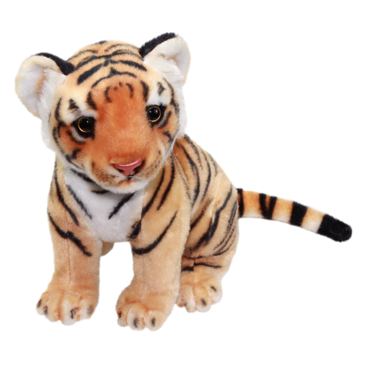 Real Animal Plush Collection Stuffed Animal Toy Bengal Tiger 10 Inches