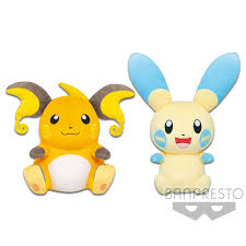 Pokemon Sun & Moon Raichu Plush Doll 10 Inches Banpresto