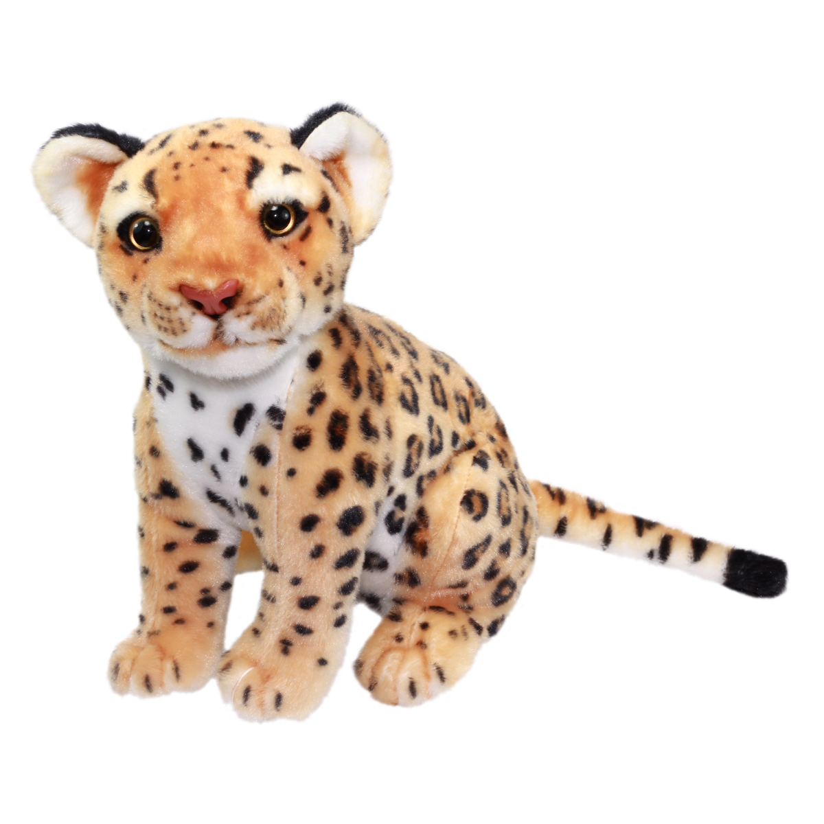 Real Animal Plush Collection Stuffed Animal Toy Leopard 10 Inches