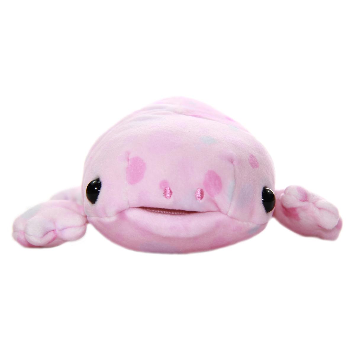 Mochi Puni Salamander Plush Doll, Pink 9 Inches