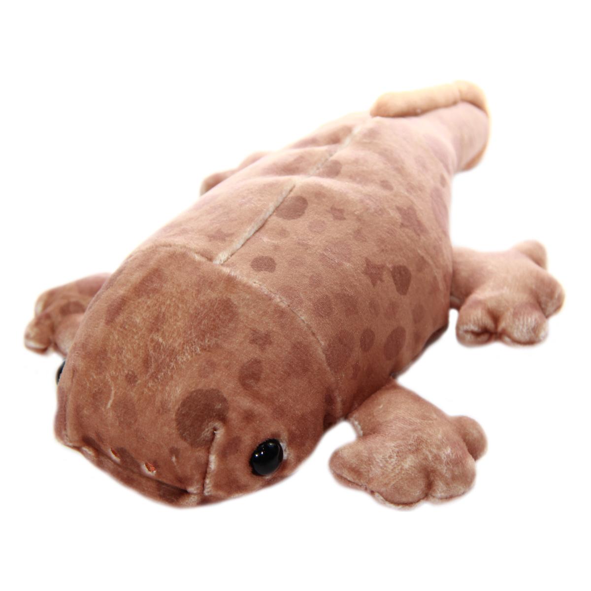 Mochi Puni Salamander Plush Doll, Brown 9 Inches