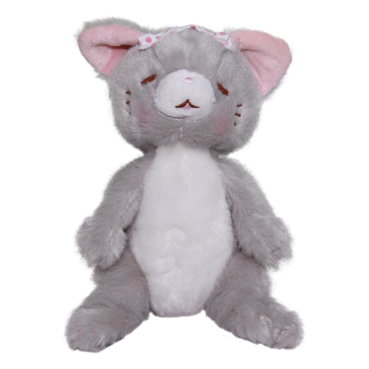 Cat Plush Doll, Hot Springs Collection, Stuffed Animal Toy, Gray, 6 Inches
