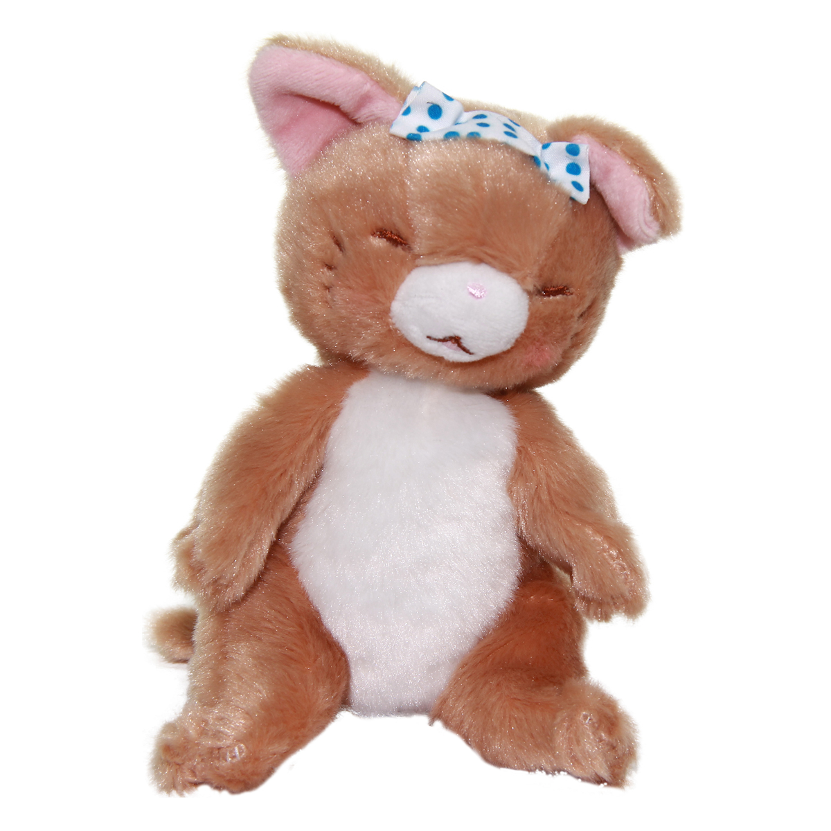 Cat Plush Doll, Hot Springs Collection, Stuffed Animal Toy, Light Brown, 6 Inches