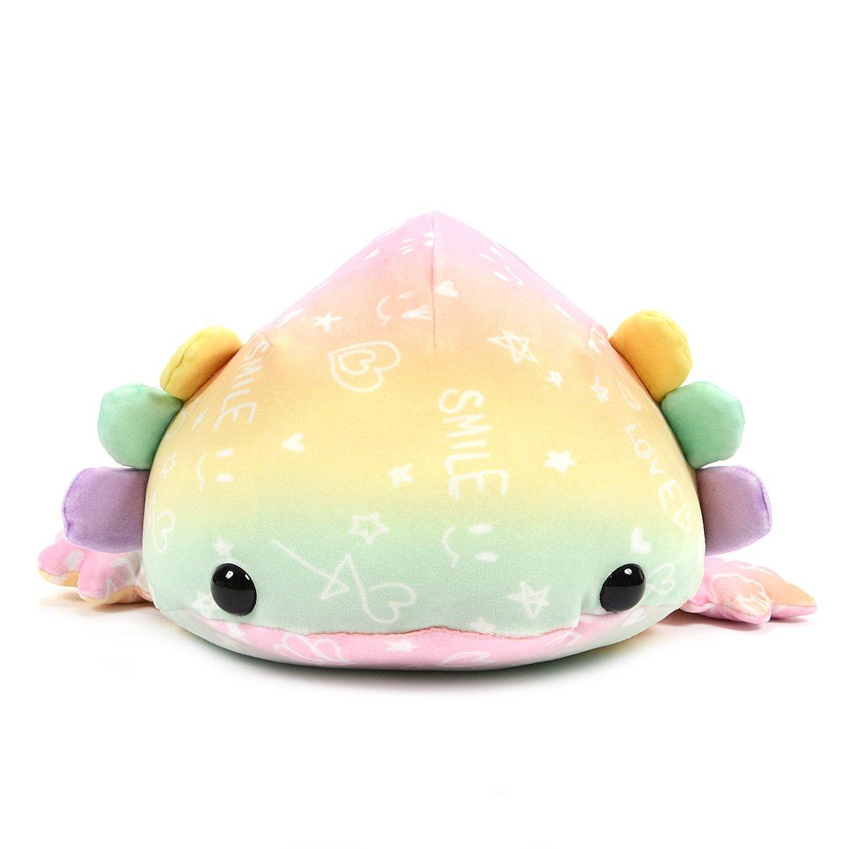 Mochi Puni Axolotl Big Super Colorful Plush Collection Salamander Words 24  Inches