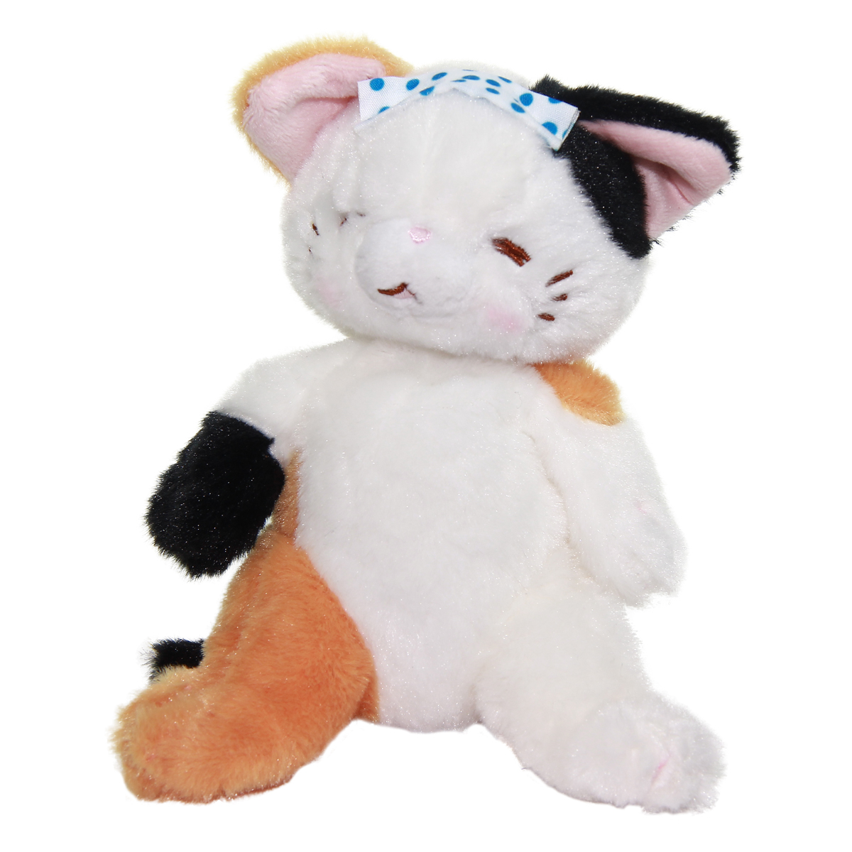 Cat Plush Doll, Hot Springs Collection, Stuffed Animal Toy, White Mix, 6 Inches