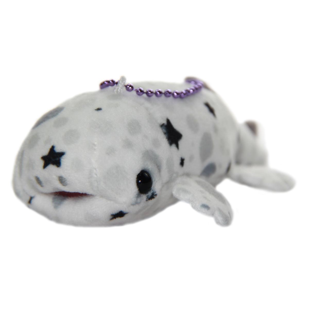 Mochi Puni Salamander Plush Doll, Keychain Size, White 4 Inches