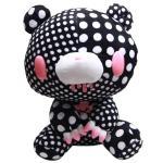 Taito Textillic Crazy Dots Gloomy Bear Plush Doll Black White GP #556 12 Inches