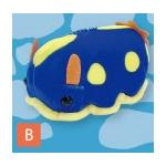Mochi Puni Sea Cucumber Plush Collection Toy Blue/Yellow 4 Inches