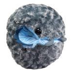 Dangomushi Super Soft Larva Roly Poly Plush Toy Gray Size 13 Inches